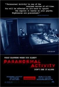 Paranormal Activity sort en France le 2 décembre. Voilà !