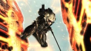 Raiden et son épée qui coupe le métal comme du beurre...