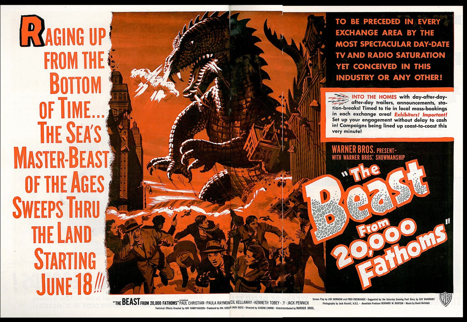 La séance du Père Sheppard : Hommage à Ray Harryhausen, The Beast From 20 000 Fathoms (1953).