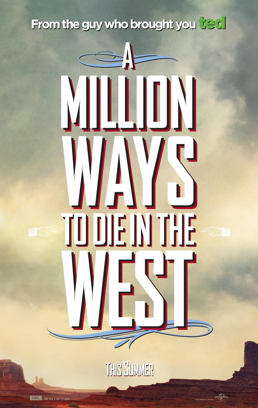 Premières images des personnages de la prochaine comédie Western de Seth MacFarlane, A Million Way To Die In The West