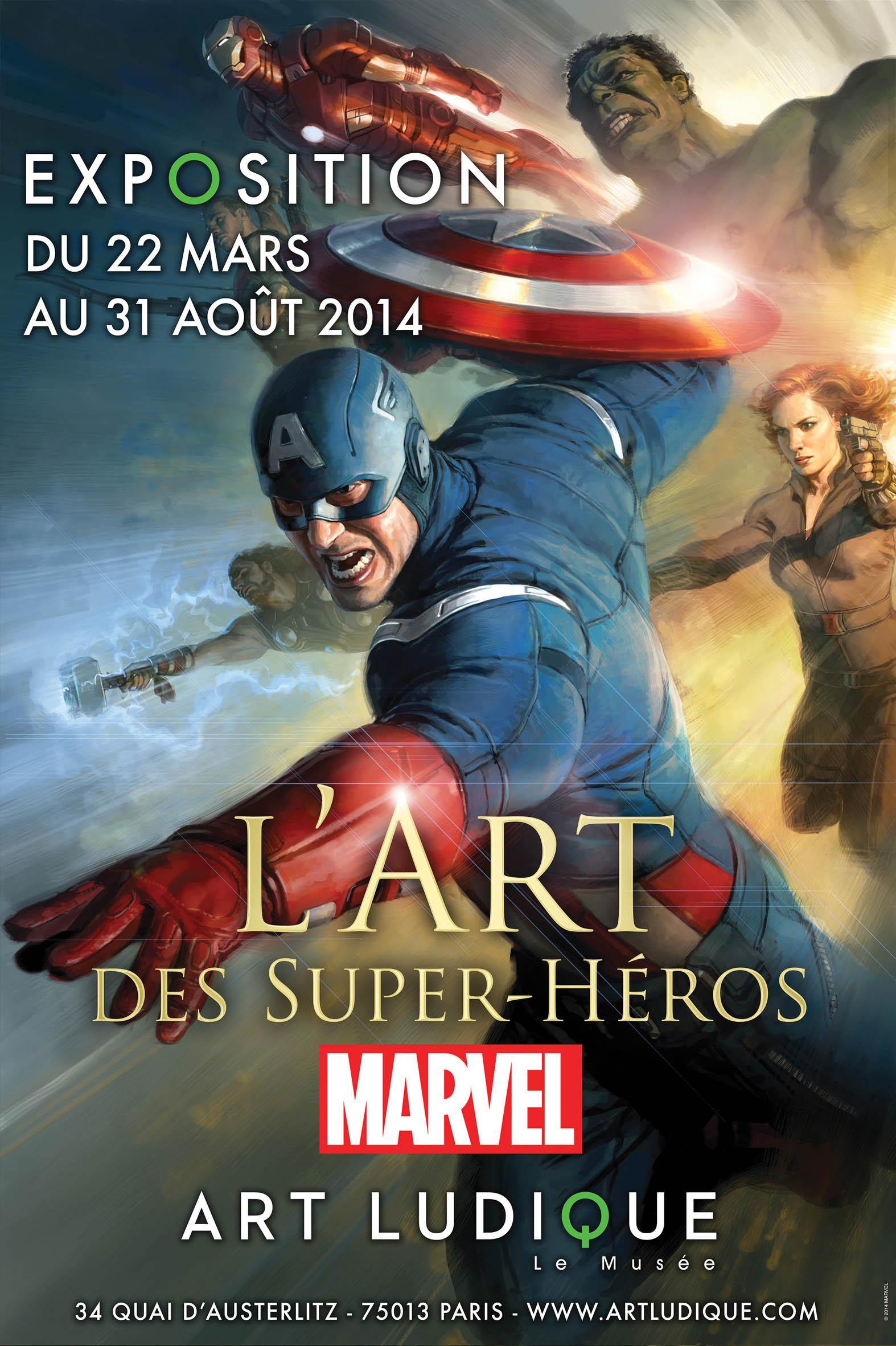 Une exposition «L'art des Super Héros Marvel» à Paris