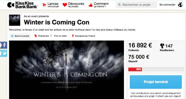 Capture campagne Kickstarter WICCON