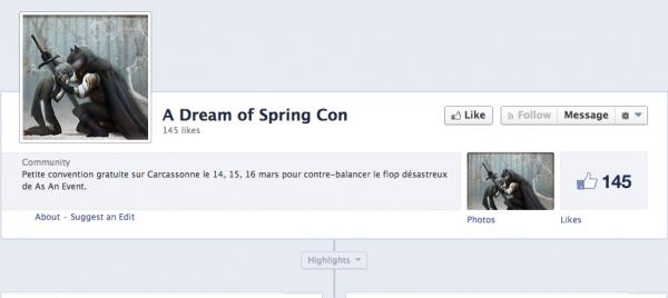 Capture d'écran Dream of Spring Comic Con