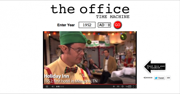 machine a remonter le temps the office