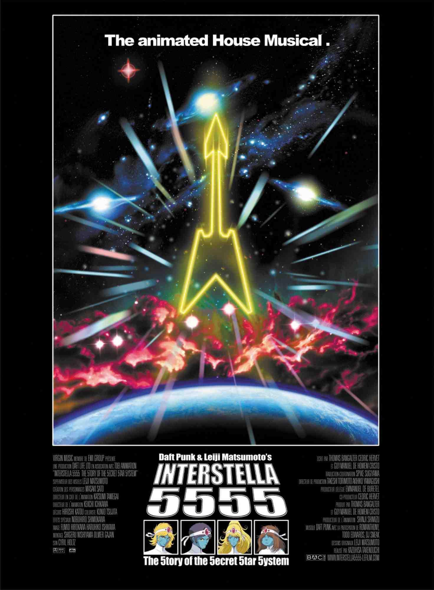 Re-Anime: Interstella 5555: The 5tory of the 5ecret 5tar 5ystem (de Kazuhisa Takenouchi)