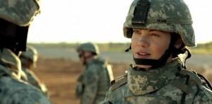 Michelle Monaghan, mère et militaire. (Fort Bliss)