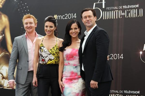 54ème Festival de Monte-Carlo : Tony Curran, Jaime Murray, Julie Benz et Grant Bowler, de Defiance (Photo Isabelle Ratane)