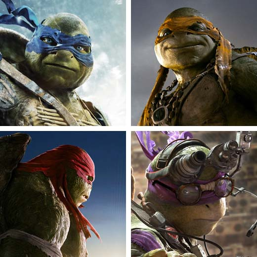 4 character posters pour les Tortues Ninja