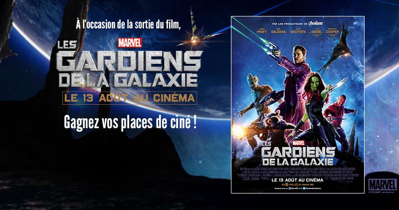 Concours : Gagnez vos places de ciné pour Les Gardiens De La Galaxie