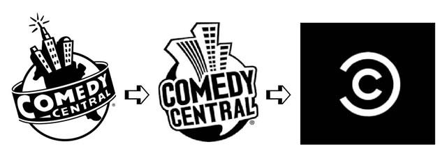 Evolution logos Comedy Central