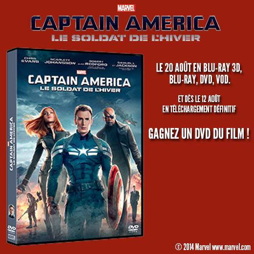 [Concours] Captain America 2 : Gagnez un DVD du film