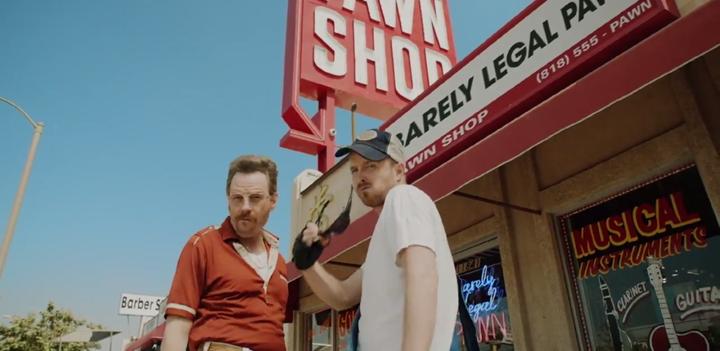 Barely Legal Pawn: la promo des Emmys avec Bryan Cranston, Aaron Paul et Julia Louis-Dreyfus