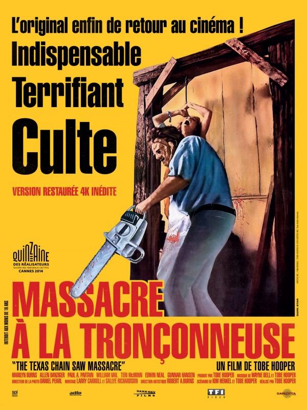 massacre à la tronçonneuse affiche restauration