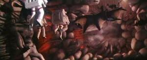 L'artère qui mène au vaisseau, sans gain (Lifeforce)