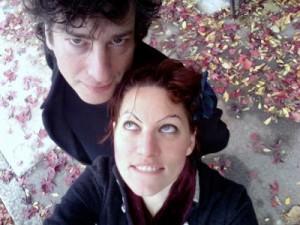 Amanda Palmer et Neil Gaiman, photo publiée sur le tumblr de l'auteur.