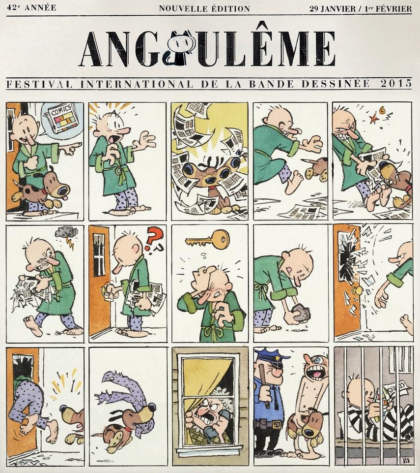 Festival de la bd d'Angoulême : l'affiche de Bill Watterson