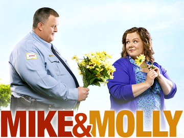 Mike & Molly, comédie produite par Chuck Lorre sur CBS. Photo: Art Streiber/CBS