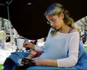 Sarah Michelle Gellar sur le plateau de Buffy