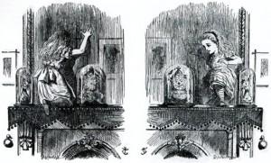 Illustration de John Tenniel pour Alice, de l'autre côté du miroir.