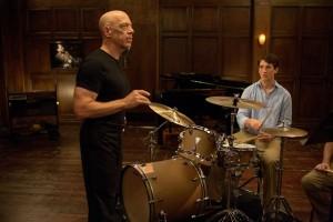 Le terrifiant Pr de jazz Terence Fletcher (J.K Simmons) et à la batterie, son disciple martyr Andrew Neiman (Miles Teller)