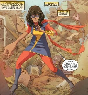 Miss Marvel prête au combat