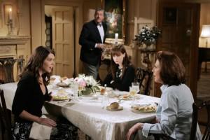 Les fameux repas du vendredi soir chez Richard et Emily Gilmore.