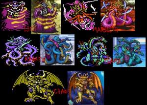 Les Quatre Démons et Chaos