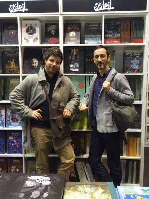 Bertand Gatignol (à gauche) et Hubert. Crédit : Déborah Gay / Le Daily Mars.