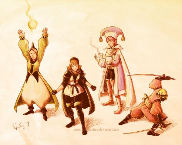 Final_Fantasy_III_Final_Party_by_rafaelventura