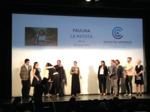 L'équipe de Paulina, grand gagnant de la Semaine de la Critique