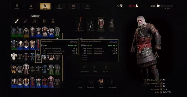 Witcher inventaire