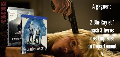 Concours Les Enquêtes du Département V : 2 Blu-Ray et 1 pack 3 livres à gagner