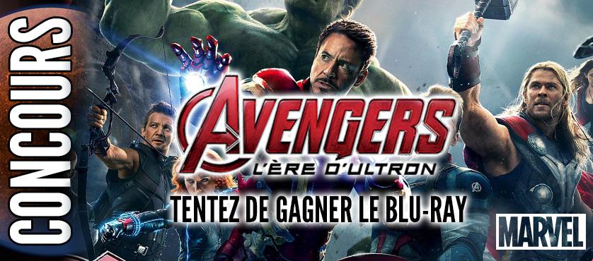 Concours : Gagnez votre DVD/Blu-ray de Avengers, l'Ère d'Ultron