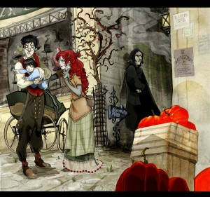 Snape_and_the_bad_encounter_by_Sally_Avernier