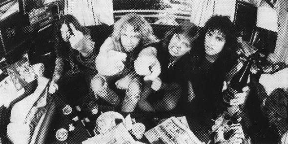Metallica photographié par Ross Halfin en 1986