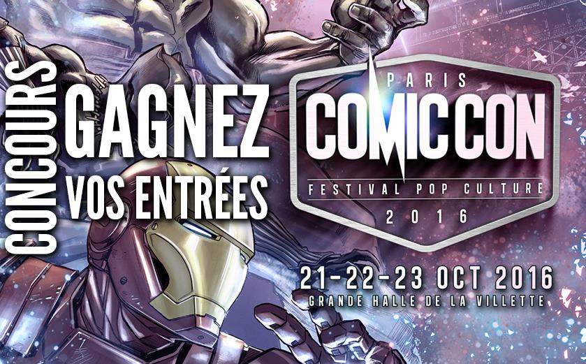 Concours Comic Con Paris 2016