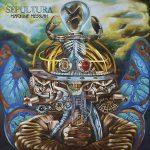 "Pochette de l'album ""Machine Messiah"" de Sepultura (2017 - illustration de Camille Dela Rosa)"