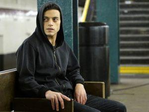 "MR. ROBOT -- ""hellofriend.mov"" Episode 101 -- Pictured: Rami Malek as Elliot -- (Photo by: Peter Kramer/USA Network)"