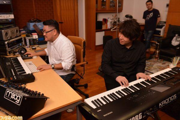 Keiichi Okabe et Keigo Hoashi en plein travail.