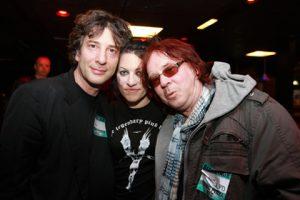 Neil Gaiman, Amanda Palmer and Edward Ka-Spel. Crédit : Greg Cristma