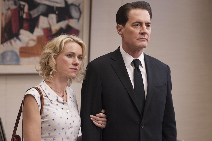 Naomi Watts and Kyle MacLachlan in a still from Twin Peaks. Photo: Suzanne Tenner/SHOWTIME