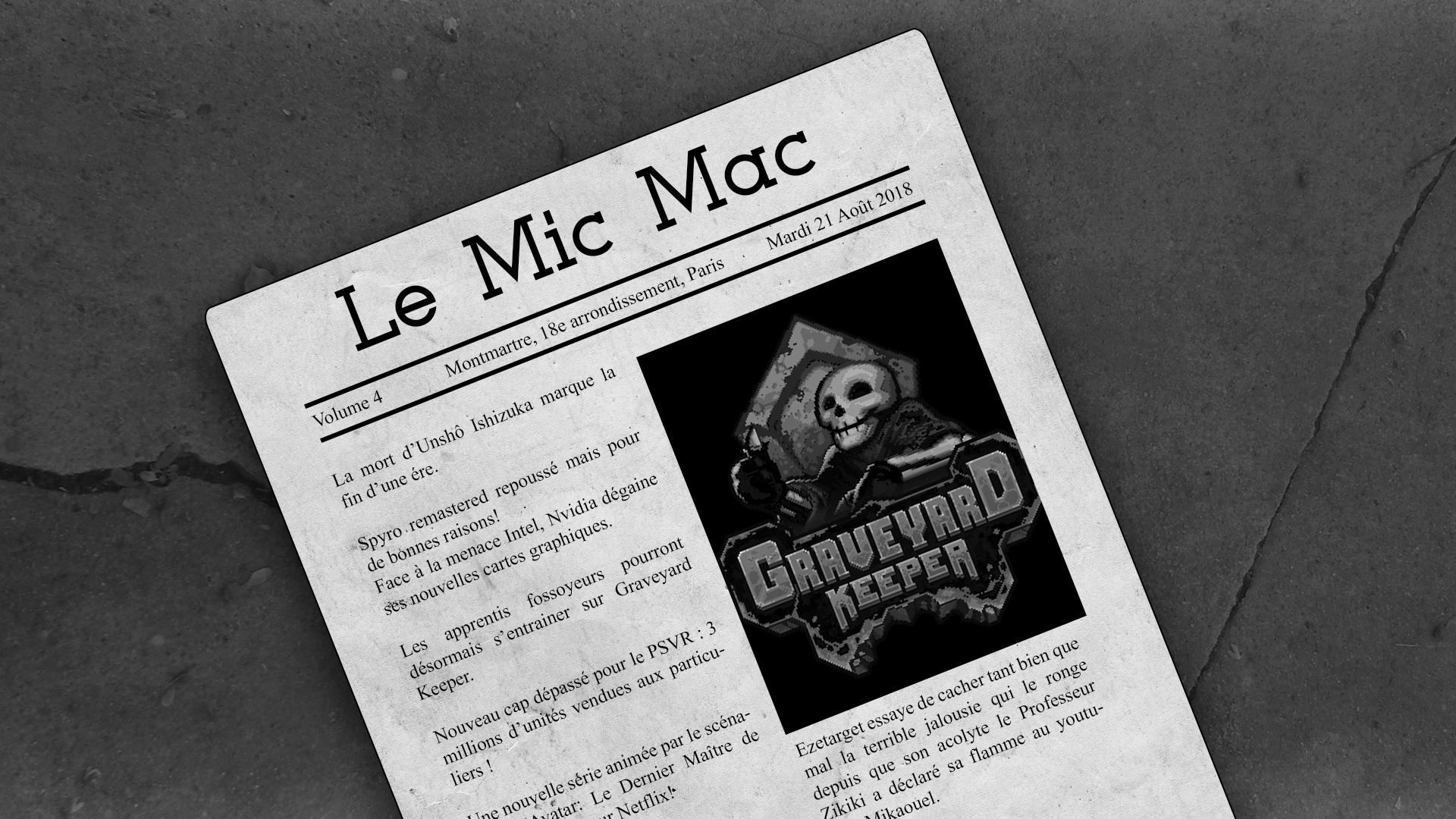 Podcast Au Tour du Mic – Mic Mac #4 : 14/08/2018 au 20/08/2018