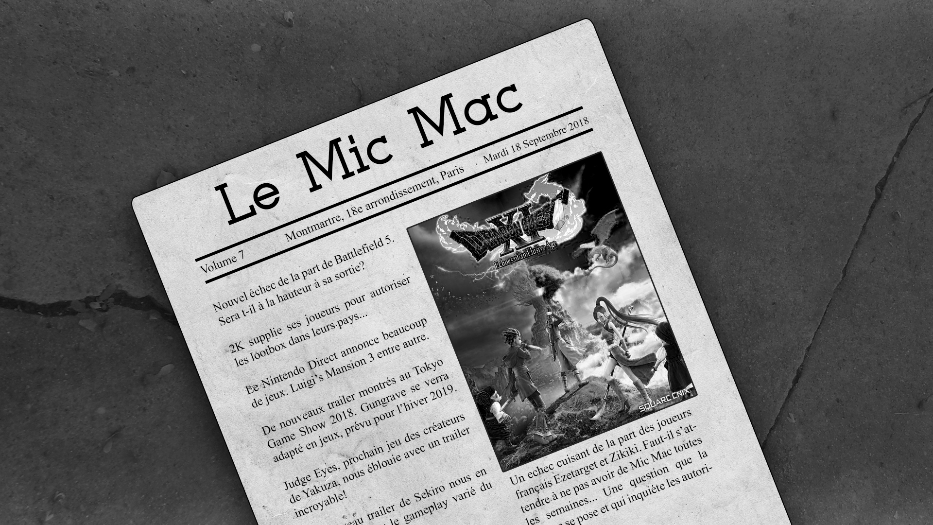 Au Tour du Mic Podcast – Mic Mac #7 : 11/09/2018 au 17/09/2018