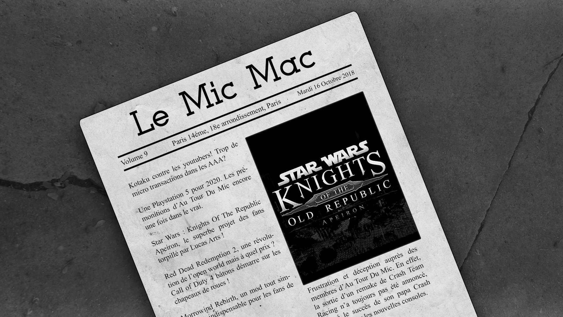 Au Tour du Mic – Mic Mac #9 : 09/10/2018 au 15/10/2018