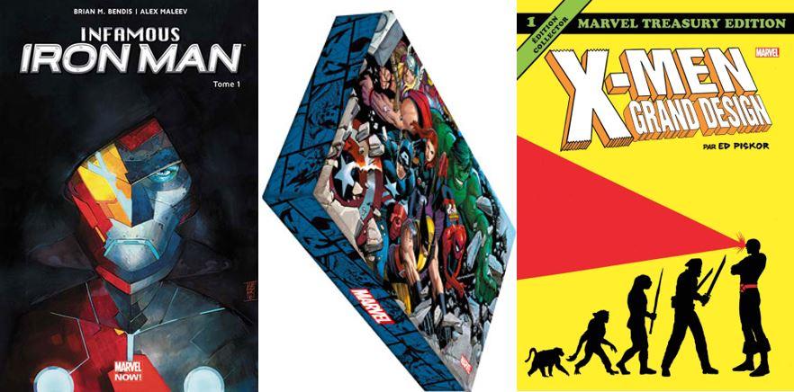Marvel : Infamous Iron Man, X-Men Grand Design et Les Grandes Batailles